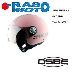 Casco OSBE MAT PINK ( rosa opaco ) Freesoul, misura XL. Casco in HTR ( High Termoplastic Resin ) . 100% MADE IN ITALY